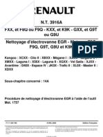 Renault Nettoyage EGR TT 3916A