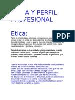 Etica y Perfil Profesional