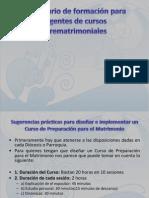 Seminario formación prematrimoniales