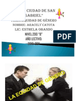 Equidad de Genero Sociologia