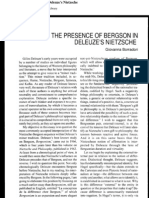 Deleuze Bergson in Nietzsche