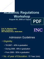 Academic Regulations Presentation - Vijayawada