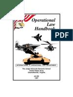 Judges Advocate Handbook Law of War