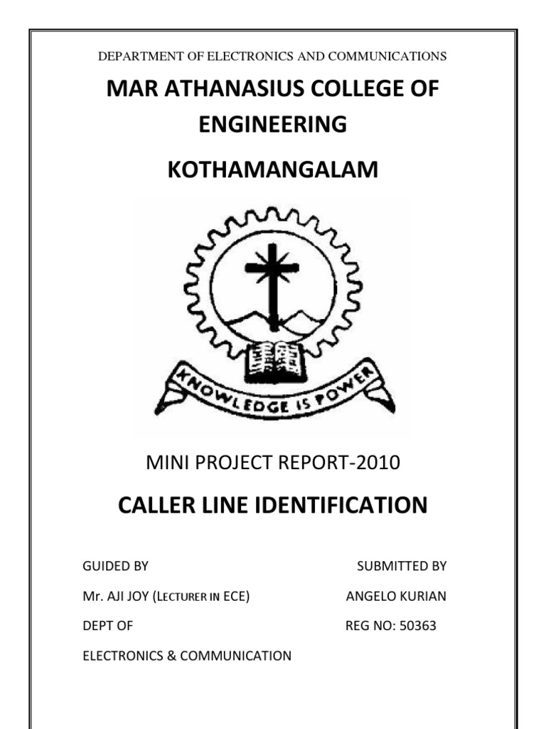 Caller Line Identification Telephone Computer Engineering Circuit Using Dtmf Decoder Mt8870 Or Cm8870 As Shown In The U