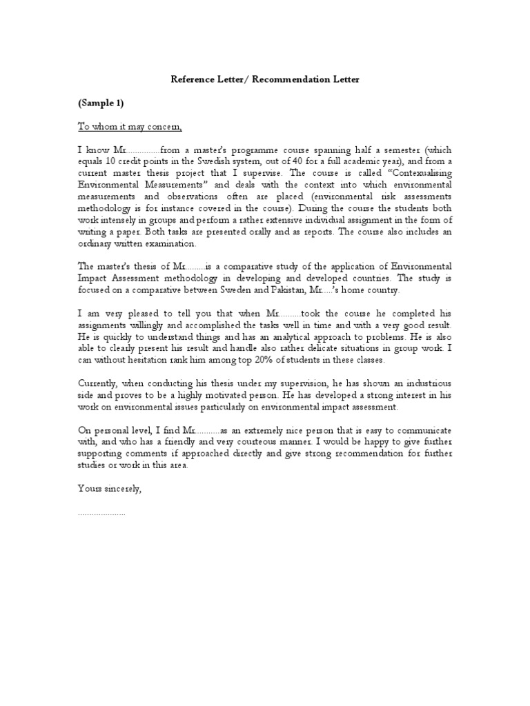 Samples of Reference Letter Recommendation Letter PDF May 2 20087 – Letter of Recommendations