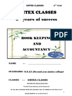 Accounts Notes for 2010 - 11