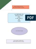 República Socialista del 4 de julio de 1932 - Luis Cruz Salas