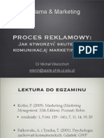 Reklama i Marketing - Proces Reklamowy