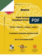 Memoria 1 Encuentro de Pensamiento Crítico en Puebla