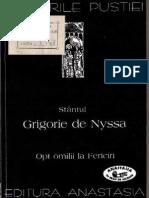 (Sfantul Grigorie de Nyssa) Opt Omilii La Fericiri