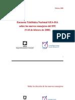 Encuesta Telefónica Nacional GEA-ISA (febrero 9-10 de 2008)