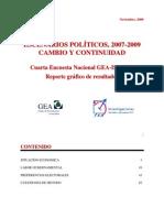 Encuesta Nacional GEA-ISA (noviembre de 2009)