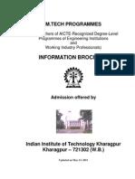 NEW M.tech Programme IIT KGP