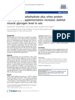Post-exercise carbohydrate plus whey protein hydrolysates supplementation increases skeletal muscle glycogen level in rats