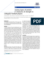 The effects of varying types of protein consumption on measures of strength in collegiate football players