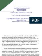 Participación ciudadana en 2003