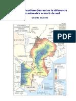 Cuidar Acuífero Guaraní o morir de sed