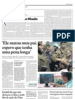 """Artigo de Giles Lapounge sobre a prisão do """"o açougueiro de Srebrenica"""" Mladic"""