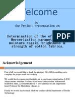 Presentation on mercerization parameters