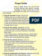 Prayer Walk Guide - Jacksonville City Church