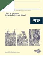 Corps of Engineers Wetlands Delineation Manual