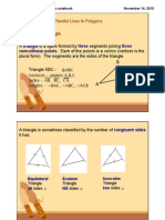 Notes on Parallel Lines and Polygons