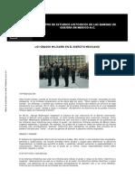 Los Grados Militares en Mexico