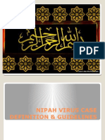 Nipah Virus Case Definition & Guidelines Power Point
