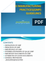 GMP Guidelines
