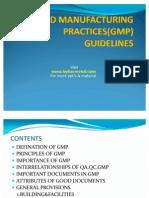 GMP Guidelines