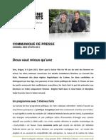 Communiqué de presse des Verts - Conseil des Etats 2011
