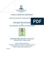 Catalog Energy Medicine University