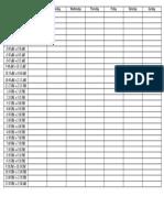 STD Timetable