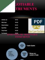 Negotiable Instrument