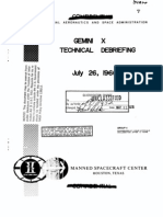 Gemini X Technical Debriefing