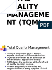 Lecture # 7 Total Quality Management