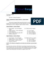 Faisal Cargo Quotation +Profile