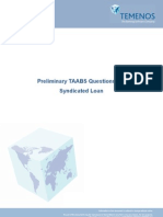 25. Syndicated Loans - Preliminary TAABS Questionnaire