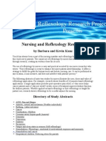 Nursing and Reflexology Research