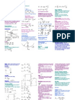 Physics Cheatsheet Unit 3 Ver.3