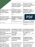 tarjetas subjuntivos