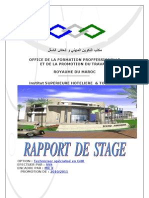 Rapport De Stage De Restaurant Café Chocolat