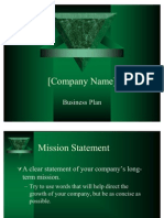 21361261 Business Plan Presentation Template Power Point