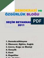 emek demokrasi özgürluk platformu-2011 secim-bildirgesi