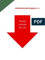 Geografie - Subiectul I - Variante Rezolvate 001-100 - An 2009