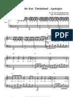 Apologize sheet music