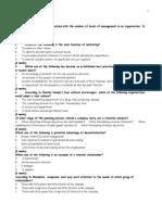 Pilot Paper Questions