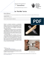 British Journal of Oral Maxillofacial Surgery 2010. Technical Note. Battling Trismus - The Pat-Bite Device