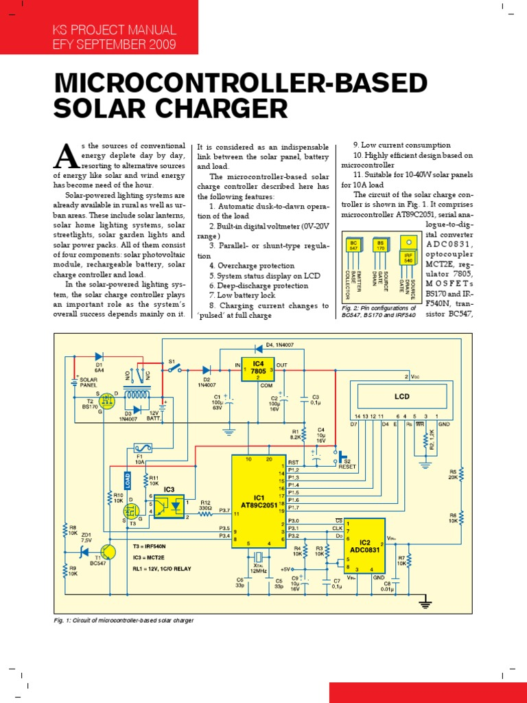 Solar Charger | Mosfet | Analog To Digital Converter