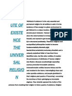 Attribute of Existence the Universal Religion